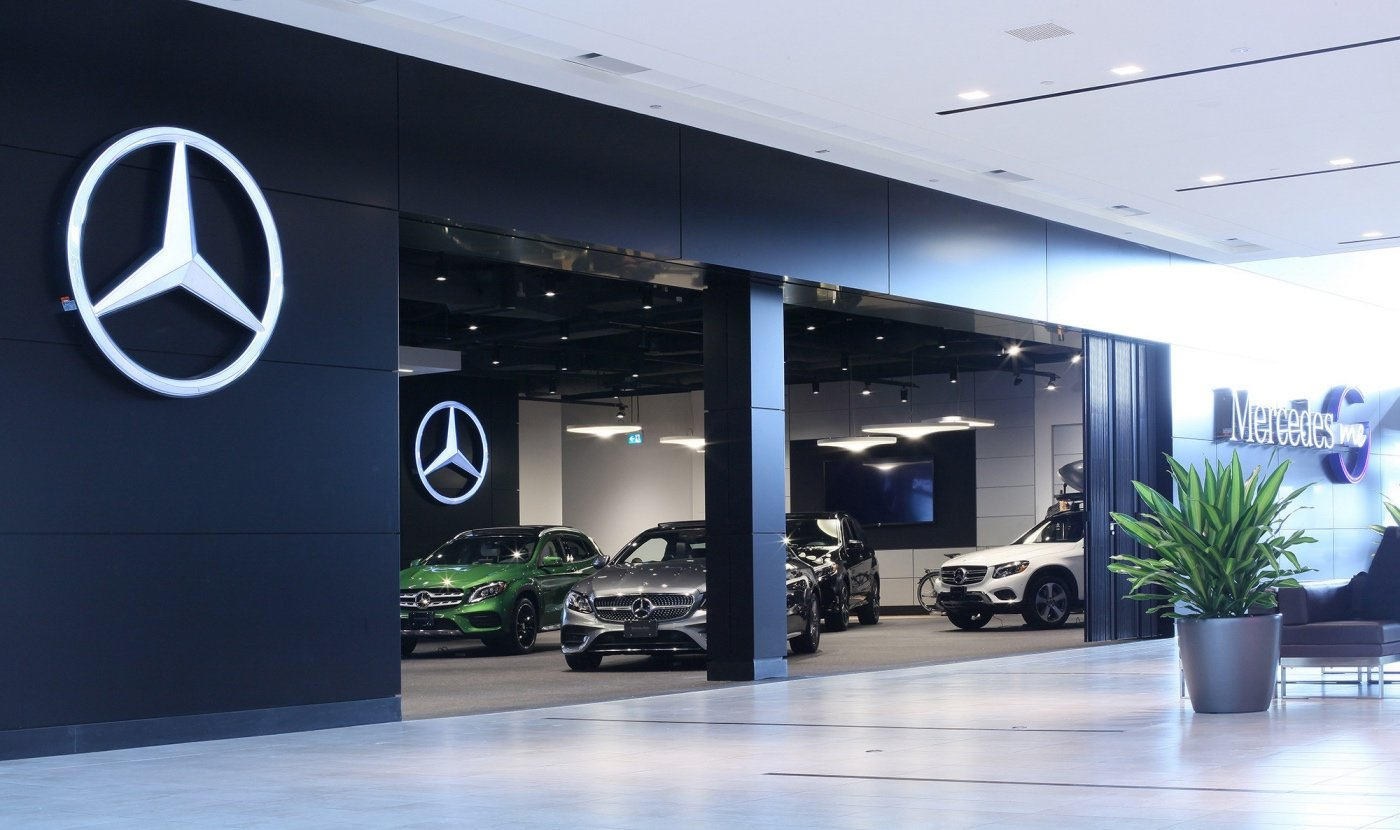 Toyota Mercedes Benz Make Their Moves Into Canadian Malls