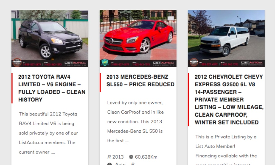 List Auto is a Canadian used-car dealership similar to