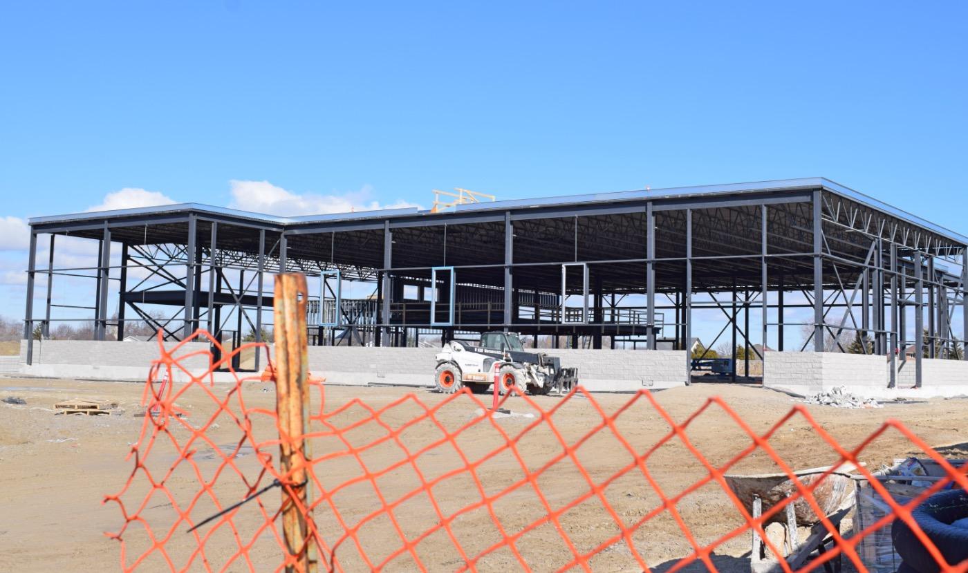 A new auto dealership under construction