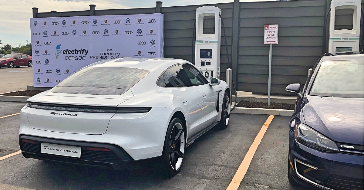 VW's Electrify Canada opens 1st EV charging station in drive