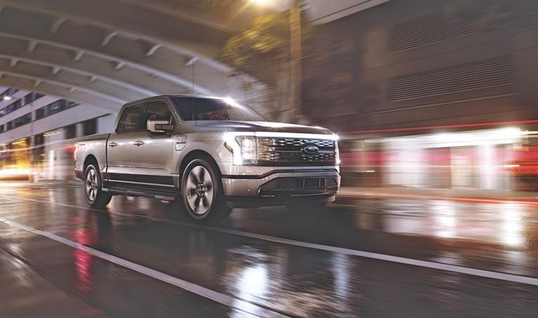 Ford F-150 Lightning in a Tunnel