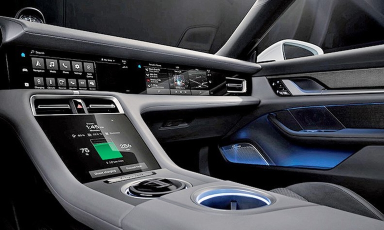 Porsche designs a button-free dash for EV