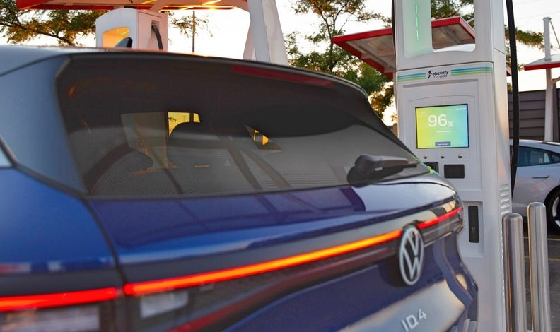 VW ID4 At Charger